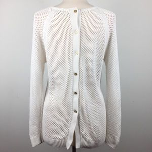 Michael Kors Open Knit Button Back Sweater